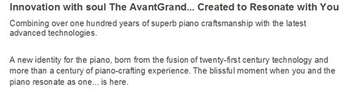 Innovation With Soul The Avant Grand ... Created To Resonate With You V2